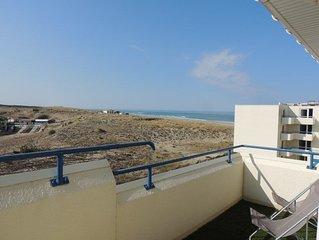 Appartement 6 pers, vue mer, résidence Bleu Marine avec piscine à Lacanau océan