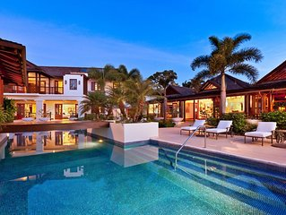 West Coast luxury 4 BR Villa on Sandy Lane nr sea,56'saltwater pool beach cabana