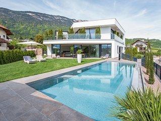 Villa Aich 5*****Eppan-Ihr Ferienhaus mit Privat-Pool -Nahe Kalterer See u Bozen