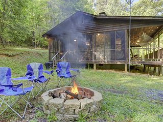 Secluded, dog-friendly cabin on three gorgeous acres with a creek & firepit