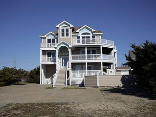 Foster Your Dreams in Rodanthe - Ocean & Sound Views, Pool, Hot Tub, Game Room