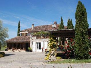 De l'Oppidum du Poney Club de Layrac, vue spectaculaire sur Gers et Garonne.