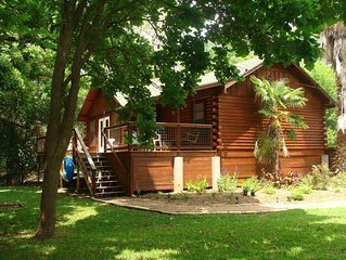 San Marcos River Log Cabin