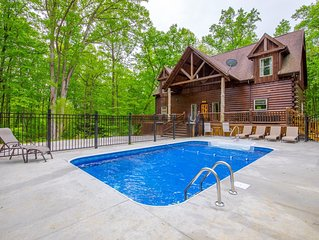Impressive 5 bedroom lodge with seasonal in ground pool and new custom theater.