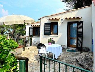 Cottage con vista panoramica di eccezzionale bellezza e accesso privato al mare
