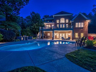 Lake Norman Luxury Vacation Rental: Home theater  | Pool | Private dock