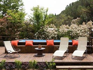 La Canigiana con grande giardino e piscina privata parcheggio privato barbecue