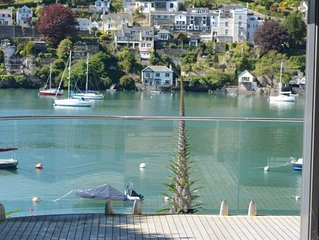 Luxury holiday home just outside Kingswear, with beautiful view over the water