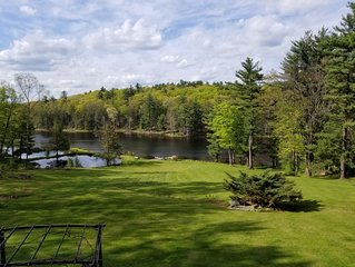 Rustic Lakefront on 31 acres on its own Lake , Free Kayaks & Canoes,