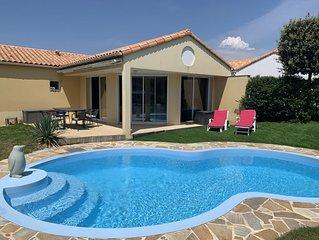 Maison 6 personnes piscine privative chauffée