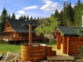 Swift Mountain Lodge - loghouse by the river
