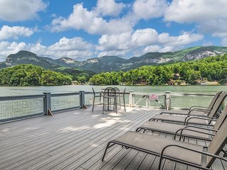 A Mountain-View, Lake-Front Cottage with Pontoon Boat from Banjoe Vacations.