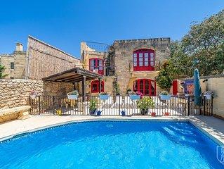 Authentic Gozitan Converted Farmhouse With Private Pool