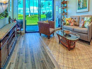Enjoy it all! Newly renovated Oceanfront suite w/full kitchen, TV+ceiling fans–M