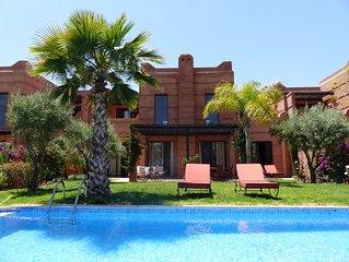 Villa avec piscine vue sur Golf et l'Atlas
