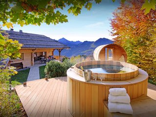 Beau chalet 5 etoiles avec jacuzzi, sauna, & grand jardin - OVO Network
