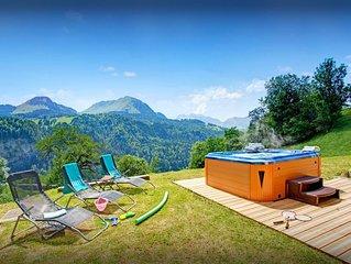 Chalet avec sauna, jacuzzi ext, terrasse ensoleillee, wifi - OVO Network