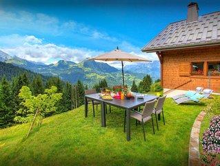 Spacieux chalet 4 etoiles, vues magnifiques, jardin, wifi - OVO Network