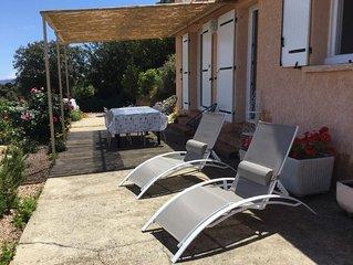 Location d un rez de chaussée de villa sur Piana