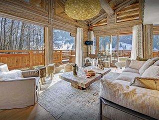 Indoor pool & sauna at this exclusive 5 star Alpine lodge - SnowLodge