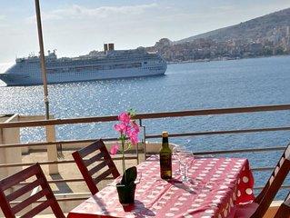 Superbe appartement a SARANDA Vue sur mer, l'ile de Corfou et la baie de Saranda