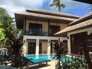Luxury villa  in 5 star resort, short walk to beautiful  Maenam beach