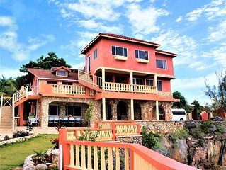 Spectacular oceanfront property with private cove & pool- waiting for you!!