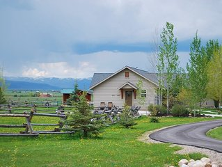 Teton View Cottage Rural And Private Area, Perfect View Of The Quiet Side