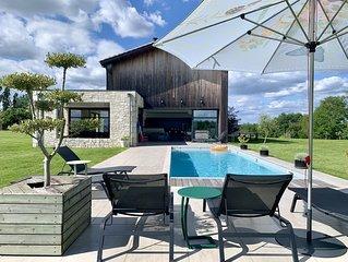 La Villa Pourpre -5*- Concept Indoor/Outdoor-Piscine chauffée-Etage climatisé