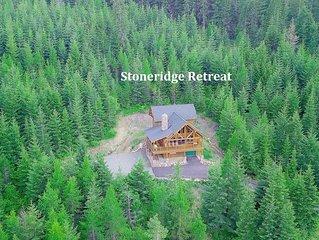 Private Log Cabin w/ STUNNING Views _3rd Nt FREE_Hot Tub_Game Rm_Nr Suncadia