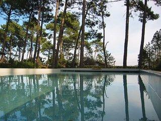 Beautiful house, heated private pool, near ocean and lake, sleeps 10