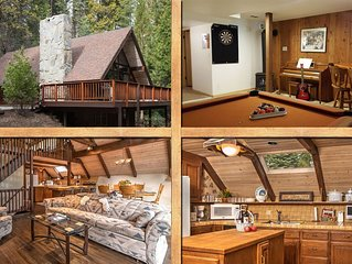 Custom, Spacious, 3-story, Game Room,  A/C, HBO, 2 miles from Yosemite's S. gate