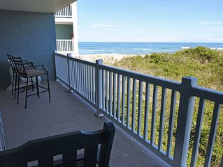 WE ARE OPEN! PierView 102 - Great Views!! Updated 2 BR Oceanfront Condo.