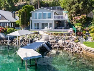 WATERFRONT HOME WITH PRIVATE DOCK AND BOAT LIFT