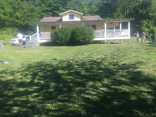 Cozy country home with great views and big porch. Family friendly great kitchen.