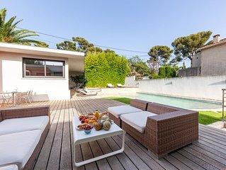 Villa d'architecte aux couleurs de la Provence aux portes des Calanques