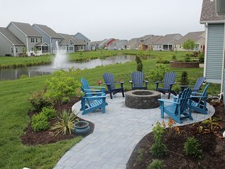 New SF Home on Pond Near Bethany Beach (in Bishops Landing), pool/shuttle passes