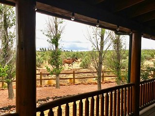 Willow's Cabin Retreat: 3bdr w/King bed. Views + Wild Horses