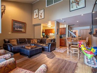 Ski-in/Out with lots of beds, comfy living room. Complimentary WiFi, & parking.