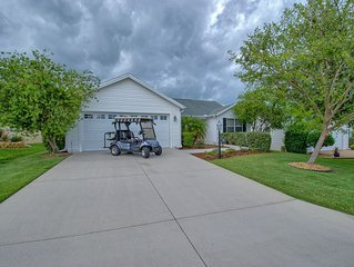 GOLF CART MINUTES TO LAKE SUMTER 3 FULL BEDROOMS GAS GRILL
