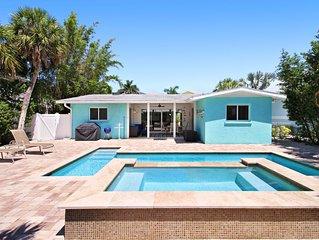 Dog-friendly family house w/ private pool, lanai & an easy walk to the beach!