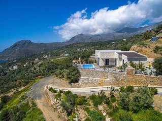 Stunning sea view, infinite blue, royal relaxation in a new luxury villa