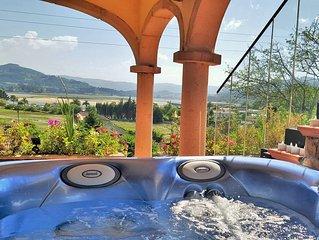 Villa con espectaculares vistas a 350 metros de la playa de Rodiles con jacuzzi