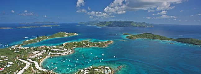 St. Thomas makes seeing many islands easy - many within close charter or ferry