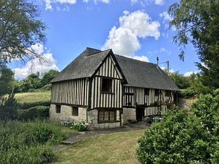 Beautiful 17th century colombage cider press set in idyllic valley