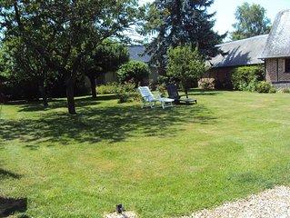 Gite en Normandie avec jardin, a proximite de la foret, circuits de randonnee...