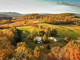 A quiet, lovely old farm on a beautiful piece of land near Shenandoah Park