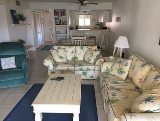 2 BEDROOM 2 BATH PET FRIENDLY CONDO WITH POND VIEW AND EASY ACCESS TO THE BEACH.