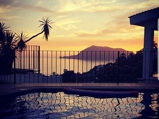 Casita Santiago Ocean View balcony and pool