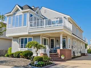 NEW LISTING Upscale Stone Harbor View of / Steps from Stone Harbor's Best beach